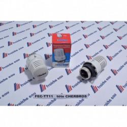 bulbe avec capteur de température , tête thermostatique CHERBROS pour robinet de radiateur de chauffage  à eau chaude