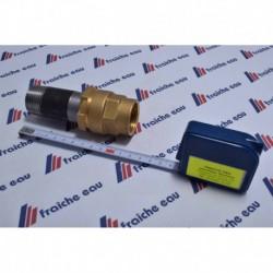 raccord coulissant télescopique  pour tube lisse sans filetage ,utilisation en chauffage pour le circulateur