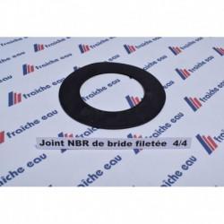 joint NBR tissé pour assurer l'étanchéité de la  bride filetée