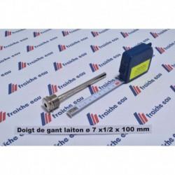 """doigt de gant universel laiton chrôme 1/2 """" x 100 mm PN 10 à namur"""