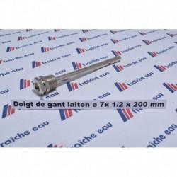 """doigt de gant universel laiton chrôme 1/2 """" x 200 mm PN10"""