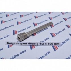 """doigt de gant universel laiton chrôme  double 1/2 """" x 100 mm PN10"""