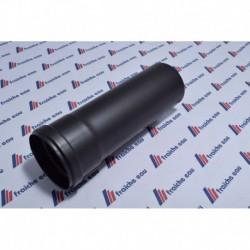 tube de cheminée pour poêle à pellet , acier noir 80 mm avec emboitement à joint