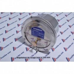 régulateur / modérateur de tirage inox  ø150 mm