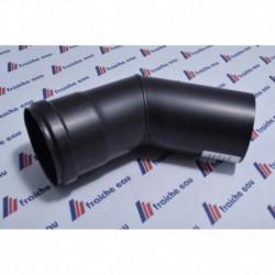 coude 2 segments  acier noir emboitement à joint ø80 mm 45°