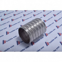 flexible INOX type 316 ep 12/100 - 2 plis  130 x 136 mm gaz / fuel