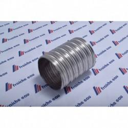 flexible INOX type 316 ep 12/100 - 2 plis  100 x 106 mm gaz/mazout
