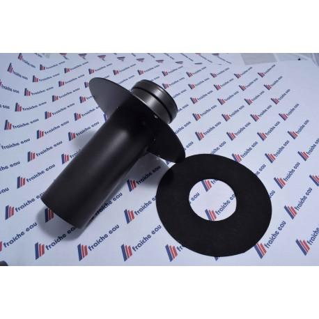 tube acier noir emboitement à joint ø80 mm x 250 mm passage de paroi