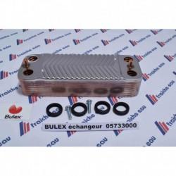 pour la production de l'eau chaude sanitaire au travers de l'échangeur à plaques BULEX