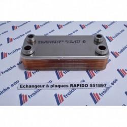 échangeur à plaques RAPIDO FERROLI pour chaudière à condensation