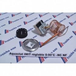 thermostat universel aquastat pour tableau de commande  avec 1 contact inverseur et capillaire standard