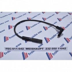 câble pour électrode d'allumage de brûleur fioul WEISHAUPT , 232 050 11042
