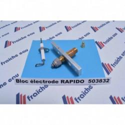 bloc électrode avec veilleuse pour chaudière RAPIDO FERROLI à charleroi, mons, tournai , cuesmes , eupen, ath, huy