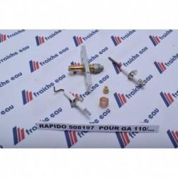 bloc gaz, ionisation, tube de combustion, rampe gaz ,thermostat ,veilleuse pour chaudière rapido