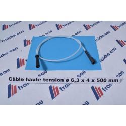 câble haute tension teflon 500 mm cosse ø6,3 x4,0