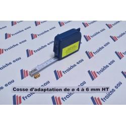 cosse d'adaptation pour câble haute tension douille de conversion  de ø4,0 vers ø 6,3 mm