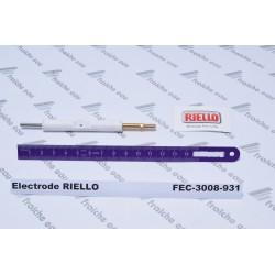 électrode haute tension bougie d'allumage riello 3008931 , électrode d'allumage de brûleur gaz domestique
