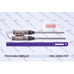 électrode d'allumage RIELLO 3005767, bougie haute tension , électrode de brûleur à mazout de chauffage