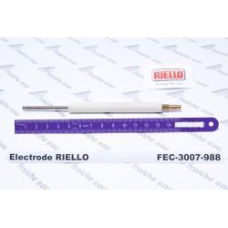 électrode d'ionisation de brûleur RIELLO 3007988, détection de flamme par ionisation à  champlon, martelange, gilly, couillet
