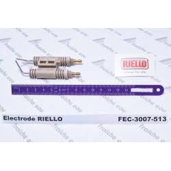 électrode haute tension RIELLO  3007513, bougie d'allumage de brûleur au fioul de chauffage de la maison