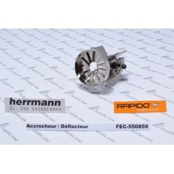 déflecteur, accocheur de flamme à 12 fentes RAPIDO 550859 , diffuseur HERRMANN de chambre de melange