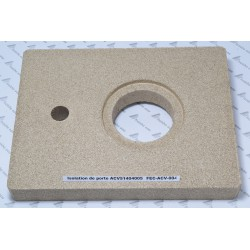 isolation de porte de chaudière  ACV 51404005 en vermiculite ,protection de porte de foyer BNE 0-1