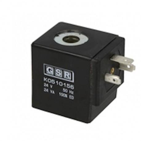bobine d'électro vanne GSR , connecteur din 43560 version 28 x 28 , précisez la tension d'alimentation