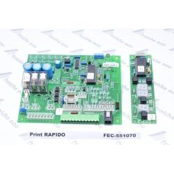 circuit imprimé,carte , platine DMF 02 + DSP 2 pour chaudière RAPIDO , printplaat , plaquette de commande  551070