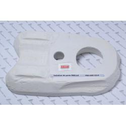 isolation en fibre de céramique  4051214 de porte de foyer pour chaudière fioul  RIELLO série tregi