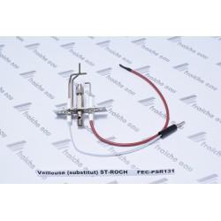veilleuse intermittente de remplacement de chaudière gaz saint roch avec électrode d'allumage et d'ionisation  sans gicleur