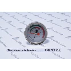 thermomètre de fumées, gaz d'échappement  de chaudière gradué de 0 à 350°c