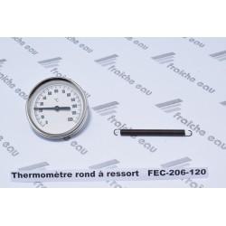 thermomètre de contact à fixer sur le tube sans doigt de gant, il mesure la température directement  au contact du tuyau