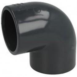 coude pvc pression à coller diamètre 50 mm angle à 90° haute pression pour la pompe de piscine et pièce d'eau