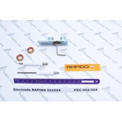 électrode d'allumage et sonde d'ionisation, bloc électrode  552524 RAPIDO  de chaudière à condensation  série  ECONCEPT TECH