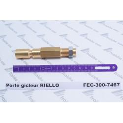 porte gicleur RIELLO 3007467 , ligne gicleur de brûleur mazout , support d'injecteur  avec ou sans préchauffage de ligne