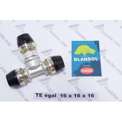 TE egal 16 x2 mm X PRESS 2 Connection  par auto sertissage rapide, calibrer, enfoncer le tube à fond et c'est étanche