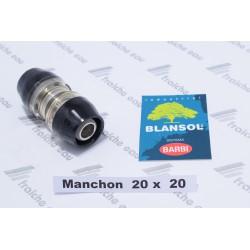 manchon ixpress BLANSOL, accouplement de 2 tubes pex 20 mm conectique FF ALUPEX  raccord à sertir  automatique sans machine