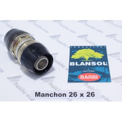 manchon diamètre 26 mm ,accouplement BLANSOL push-fit pour tube multipex, alupex, auto sertissage par glissement
