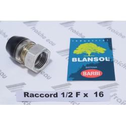 raccord XPRESS BLANSOL 1/2F  pour tube ALPEX  16 x 2 mm à  sertissage automatique , brevet BARBI pour tube multiskin , ALUPEX