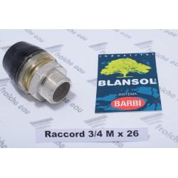 "raccord BLANSOL ,connexion rapide 3/4""M x pex 26 x 3 mm , raccord automatique pour tubes alupex, multipex, miltiskin"