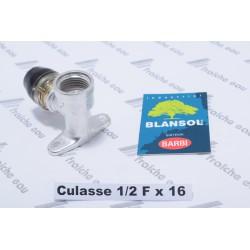 culasse murale auto sertie BLANSOL pour tube pex 16 mm x filetage 1/2 fixation de vanne d'arrêt , schell, vanne à bille