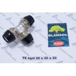 TE égal BLANSOL XPRESS pour la connection de tube pex al pex 20 mm multiskin  par sertisage automatique sans machine