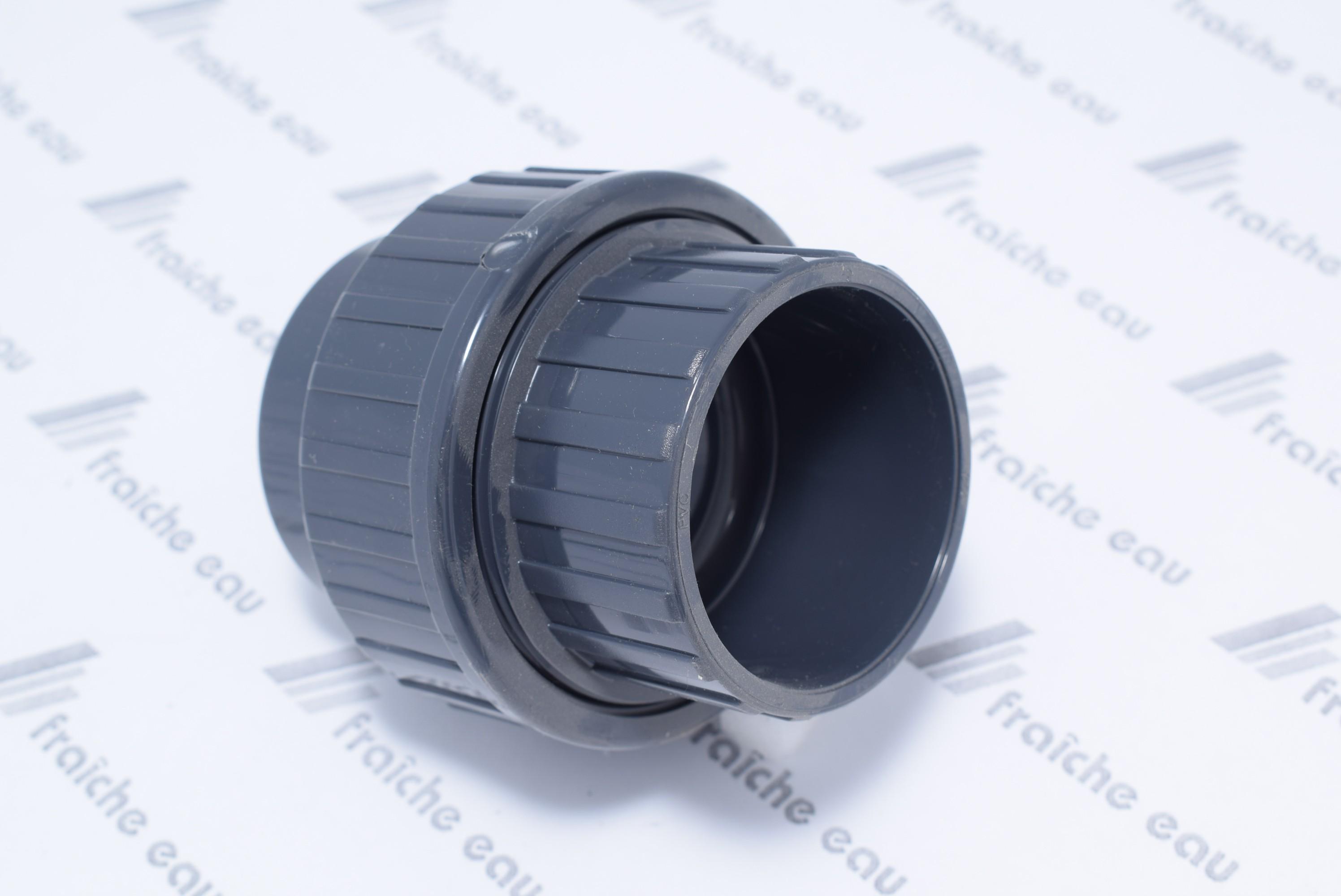 Raccord Union 3 Pieces A Coller Ff Diametre 50 Mm Pvc U Haute