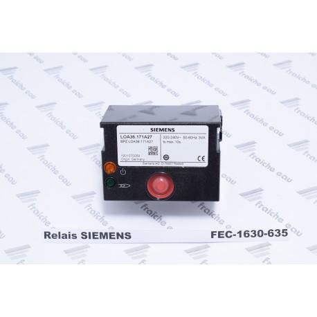 relais automate de combustion  SIEMENS LOA 36.171.A27  bloc de contrôle pour brûleur fioul ELCO à 1 ou 2 allures