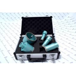 trepans , scie cloche au diamant coffret 2 de 5 mèches diamètre 20 - 27 - 35 - 55 - 72 mm utilisation sur disqueuse à sec