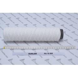 filtre avec corde tressée FA 10 BX pour stration de filtration DURLEM  raccordement avec 2 joints o-ring
