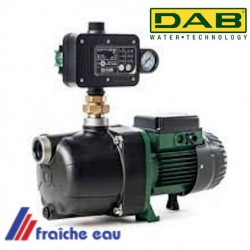 DAB  JETCOM pompe auto amorçante  pour l'alimentation en eau de pluie  avec manomètre sur le pressostat