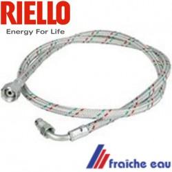 flexible  3005720 de raccordement avec filetage spécifique d'entrée de  pompe pour brûleur RIELLO  RBL