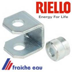 support de bobine RIELLO 3007566 étrier de bobine d'électro vanne de brûleur RIELLO GULLIVER  au mazout