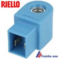 bobine d'électrovanne magnétique de brûleur RIELLO 3002451 couleur bleu clair